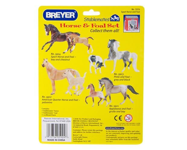 Sport Horse Amp Foal Set Breyer Stablemates 5924